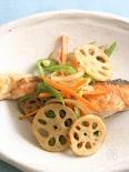 焼き鮭とシャキシャキ野菜の甘酢かけ