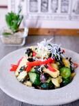 夏野菜とじゃがいもの海苔酢和え