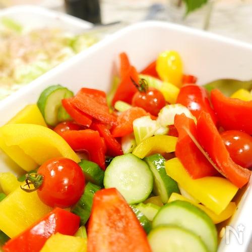 おつまみにも!彩り野菜のピクルス