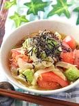 即席!新玉ねぎのトマトアボカドの中華風サラダ