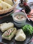 さんま蒲焼き缶のマヨバターパテ。