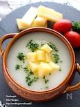 大根の冷製スープ コンテチーズ添え