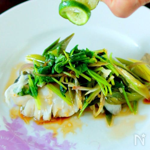 鱈の香味野菜蒸し