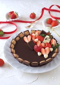 『あのお菓子で簡単!生チョコフロマージュタルト【バレンタイン】』