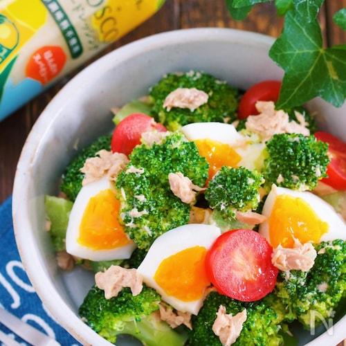 ブロッコリーと卵のデリ風サラダ【#和えるだけ】