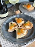 鯛のソテー 人参とアプリコットの蜜ソースのオープンサンド