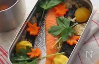 おうちでキャンプ飯!秋鮭と栗のごちそう炊き込みご飯♡