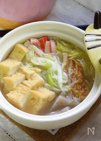 『寒い時ほど美味しさが心に届く!厚揚げと白菜の中華スープ鍋』