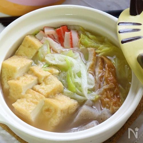 寒い時ほど美味しさが心に届く!厚揚げと白菜の中華スープ鍋