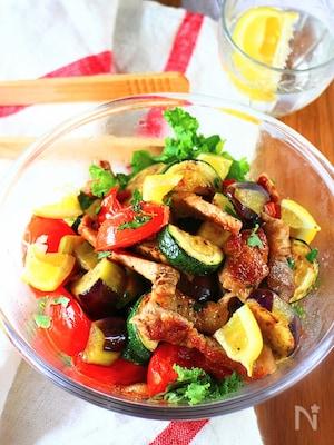 豚ロースと夏野菜のイタリアンマリネ