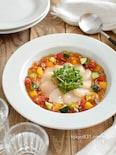 ホタテと夏野菜のジュレ。夏の冷菜。パーティーやおもてなしに♪