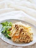 切干大根と茹で野菜の醤油麦麹かけ