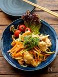 【レンジ唐揚げ】鶏むね肉の南蛮漬け風サラダ