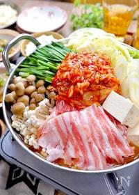 『簡単スープで『うま辛♡味噌キムチ鍋』』