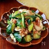 【たたききゅうりと長芋の梅肉おかかサラダ】たっぷりごま風味