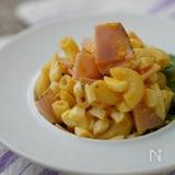 ゆで卵とだし酢でマヨネーズ風!ハムと卵のパスタサラダ