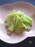 シンプルうまし塩もなし!ブロッコリー茎のフライパン素焼き