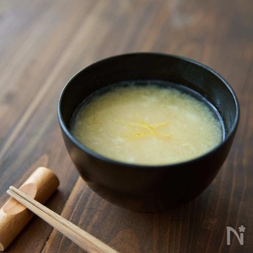 体があたたまる、長芋のすりながしみそ汁