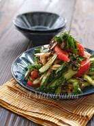 *トマトときゅうりと香味野菜の塩昆布サラダ*