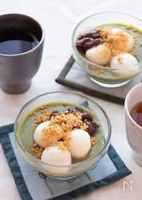 『調理時間5分!とろ~り美味しい♪抹茶の豆乳プリン』