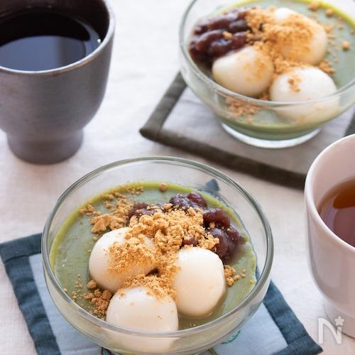 調理時間5分!とろ~り美味しい♪抹茶の豆乳プリン