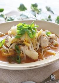 『鶏肉ともやしのスーランタン風スープ』