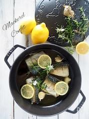 低温でじっくりコトコト鯖のコンフィ〈オイル煮〉