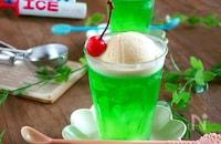 レトロ喫茶風♪氷入り⁉メロンクリームソーダーゼリー