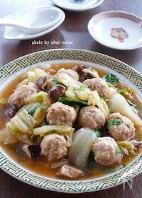 『白菜と鶏団子の中華煮込み』