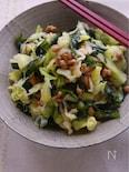 春キャベツと乾物のふわりトロトロ納豆和え