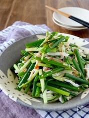 サラダチキンと葱ときゅうりのウマ辛和え