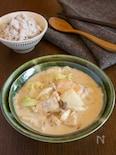 ご飯に合う 白菜とサーモンの味噌クリームシチュー