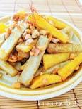 ゴボウとさつま芋のピーナッツきんぴら