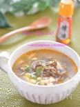 ダイエットに☆糖質オフ&脂肪燃焼☆もずくの坦々スープ