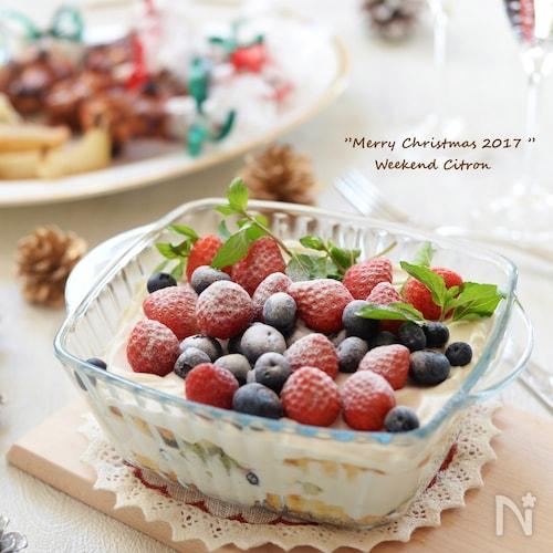 ヨーグルトクリームのスコップケーキ