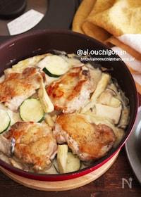 『チキンとズッキーニのクリーム煮♡』