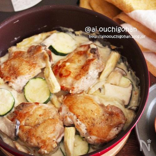 チキンとズッキーニのクリーム煮♡