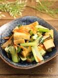 レンジで簡単!厚揚げと小松菜の甘辛炒め