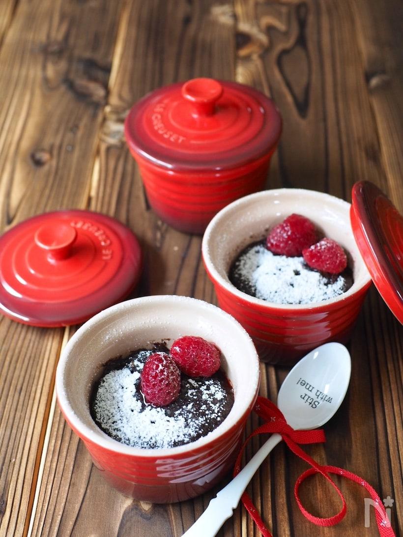 材料4つ&レンジで作れるココアケーキ