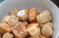 少ない材料で超簡単♡里芋と絹揚げのオイスターガーリック炒め煮