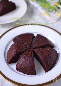 『【米粉とココアのレンチンケーキ♪】レンジにおまかせ時短ケーキ』