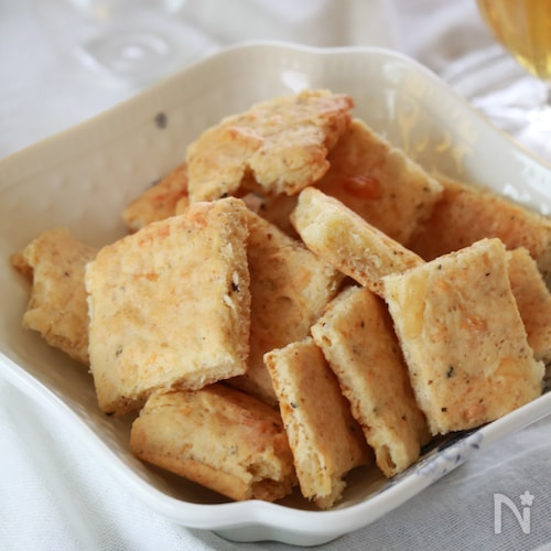 バターなし!ホットケーキミックスで☆ペッパーおつまみクッキー
