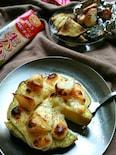 グリルでホクとろ〜♪さつま芋と生ハムチーズのピザ風おつまみ〜