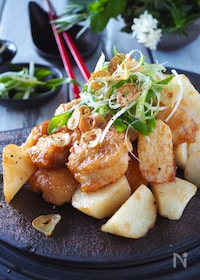 『ご飯が進む*鶏むね肉とホクホク長芋のスタミナ炒め【下味冷凍】』