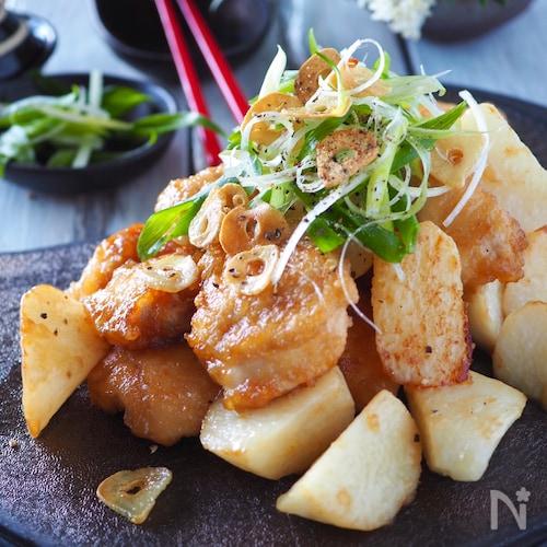 ご飯が進む*鶏むね肉とホクホク長芋のスタミナ炒め【下味冷凍】