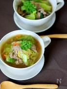 牛肉とレタスの和風スープ煮