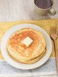 砂糖不使用でほんのり甘い♪バナナパンケーキ(米粉)