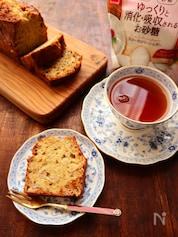 【適糖生活】バター不使用のヘルシーバナナケーキ
