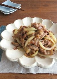 『簡単☆ごはんがすすむ♪豚肉とたまねぎの生姜焼き』