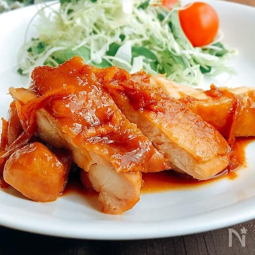 夕飯のおかず☆鶏肉のしょうがバター焼き
